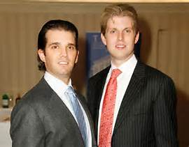a donald jr and eric